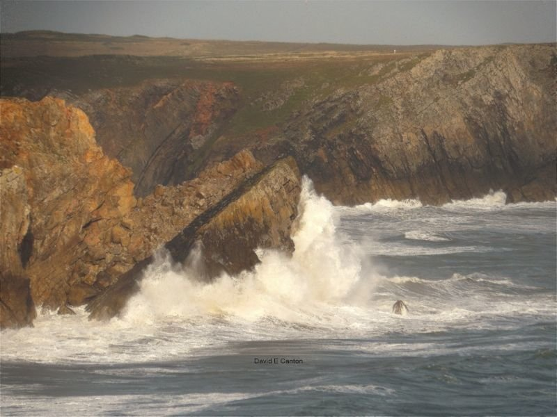 An August gale on the Pembrokeshire coast.