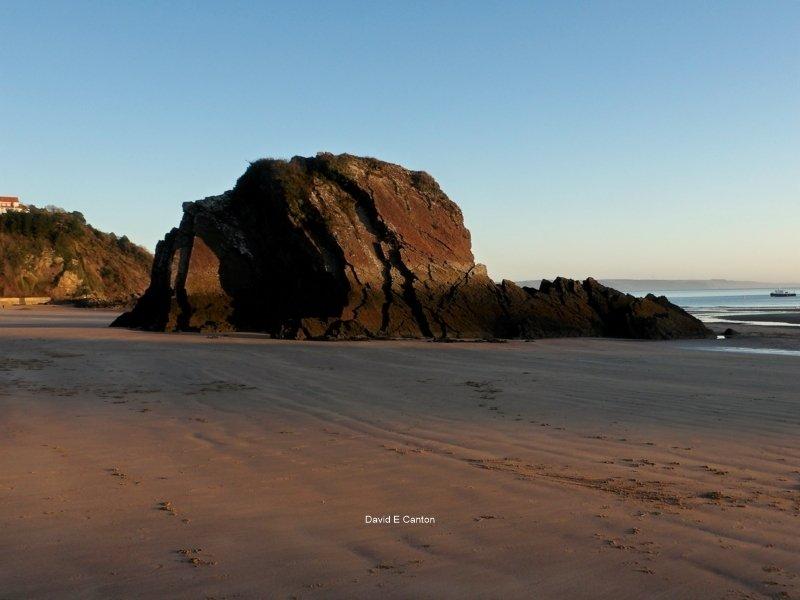 Goscar rock in Tenby