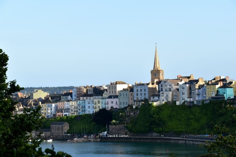 A view of St Mary's church in Tenby