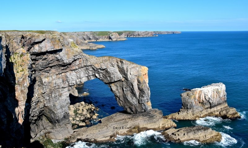 The Green Bridge of Wales in Pembrokeshire
