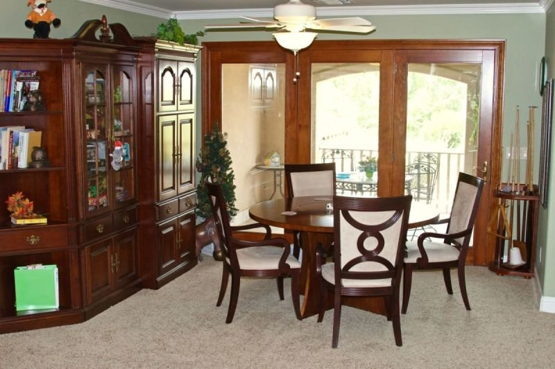 Game table w/4 chairs in upstairs suite