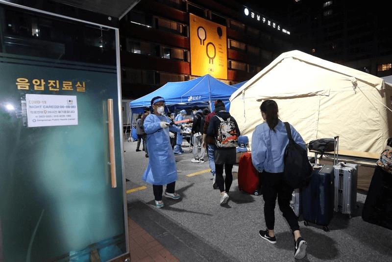 서울 강남구가 코로나19 검체검사 건수가 2만건을 돌파했다며