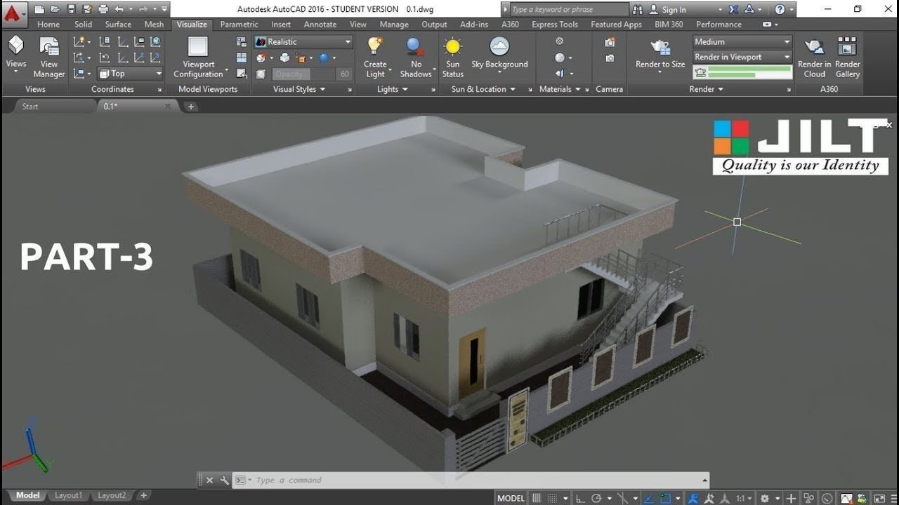 AutoCAD enable 3D design in a 2D space.