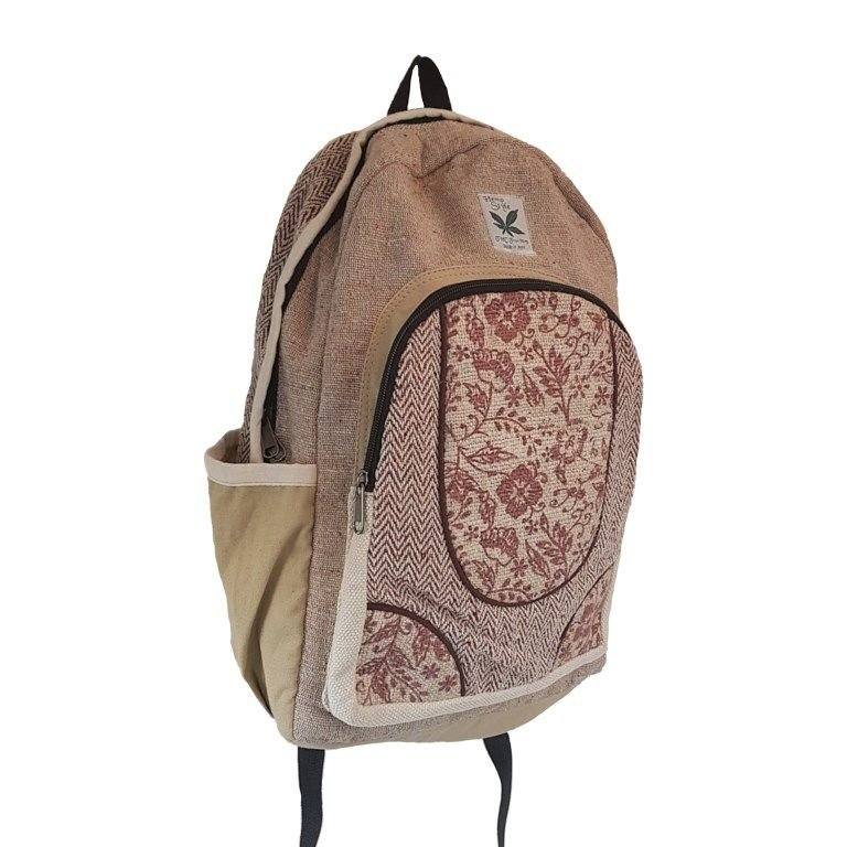 Hemp wild flower backpack