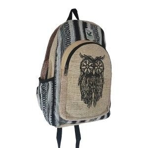 Hemp wise owl backpack