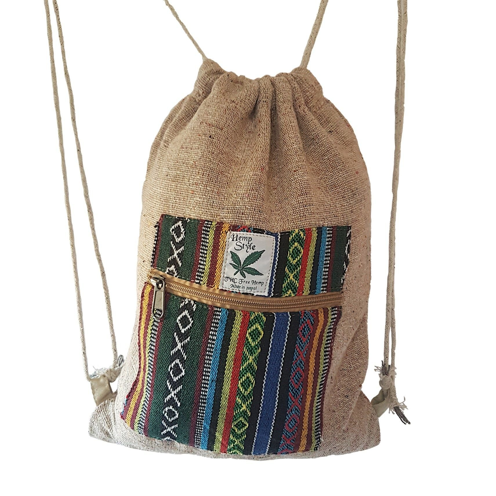 Hemp one style draw string bag