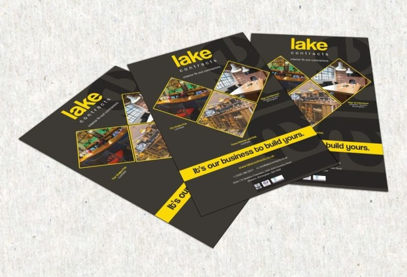 Lake Contracts - Promotional Flyer Design