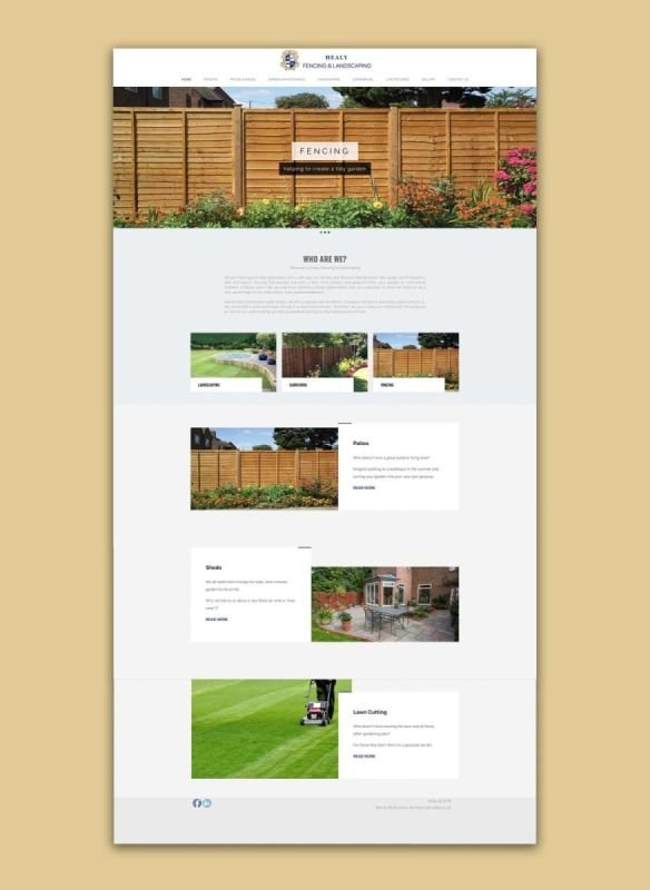 Healy Fencing & Landscapes - Wordpress Website Design