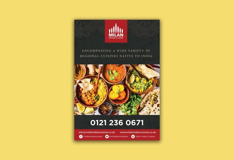 Milan Indian Cuisine - Poster Design