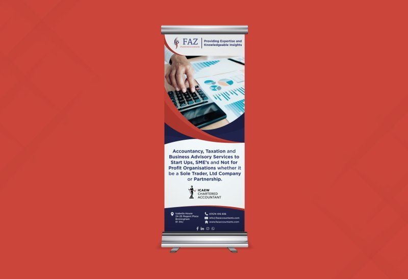 Faz Accountants - Roller Banner Design
