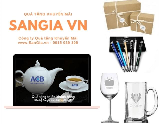 Bộ ấm trà quà tặng của ngân hàng ACB
