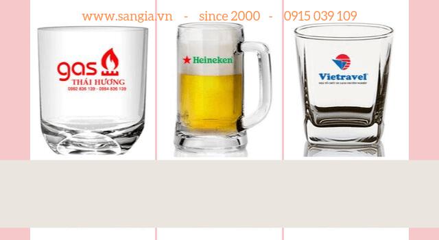 Các loại ly thủy tin in logo làm quà tặng