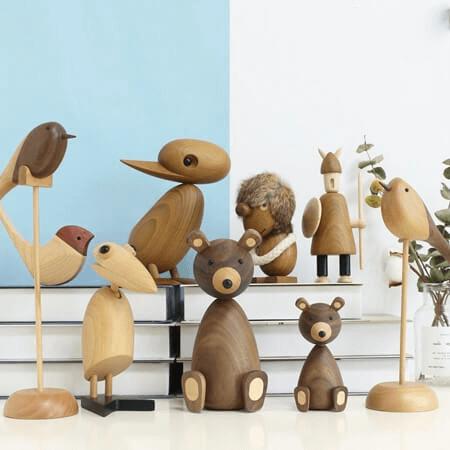 Những chú gấu làm từ gỗ ngộ nghĩnh đáng yêu