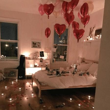 Một căn phòng lãng mạn làm quà sinh nhật chồng