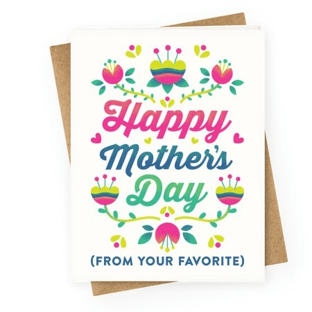 Mother day gift card