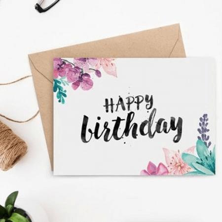 Mẫu thiệp chúc mừng sinh nhật đơn giản