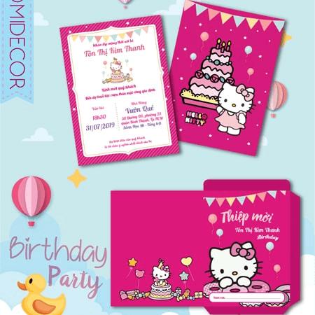 Thiệp mời sinh nhật bé gái