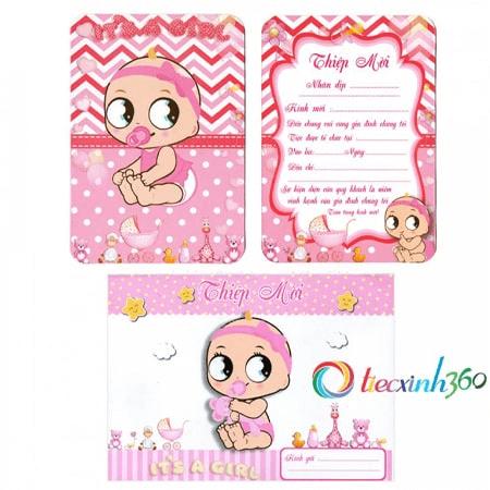 Thiệp mời sinh nhật cho bé