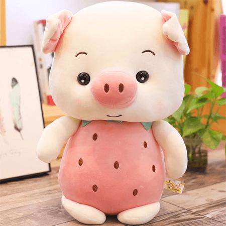 Gấu bông heo màu hồng