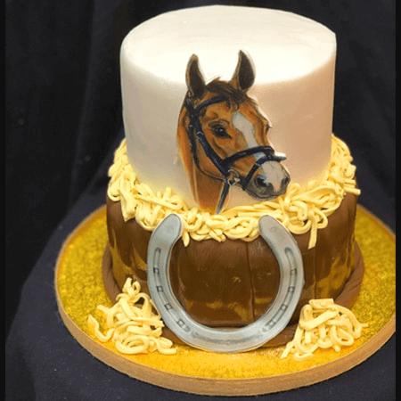 Bánh kem sinh nhật con ngựa chúc mừng sinh nhật