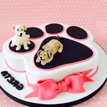 Bánh kem những chú chó dễ thương chúc mừng sinh nhật
