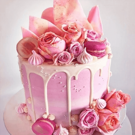 Bánh sinh nhật hoa tươi đang là trào lưu
