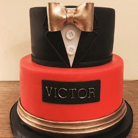 Bánh kem quý ông lịch lãm chúc sinh nhật