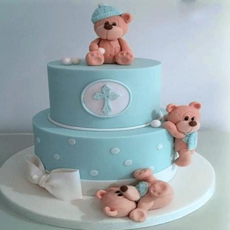 Bánh kem gấu bông đáng yêu dành cho những chàng trai thích lãng mạn