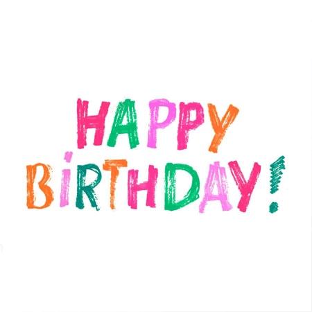 Thiệp chúc sinh nhật bằng chữ thủ công