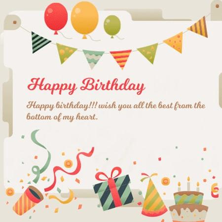 Thiệp sinh nhật có kèm lời chúc mừng
