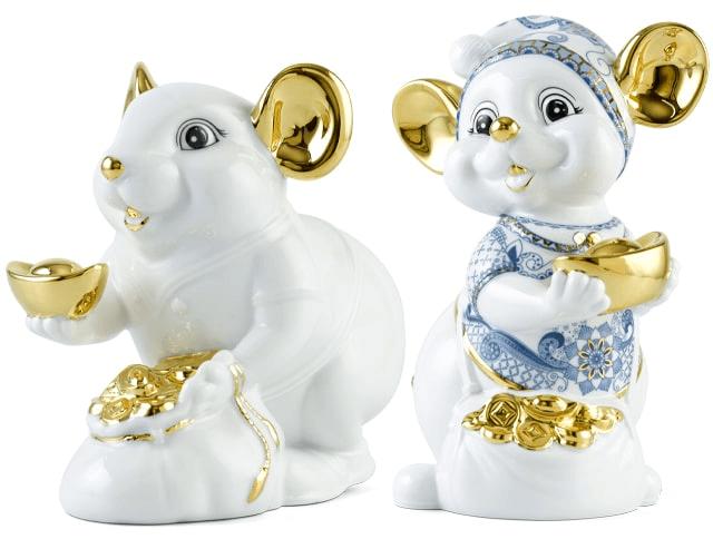 Chuột Phú Quý dát vàng 24k thương hiệu Minh Long