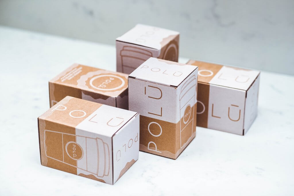 white kraft packaging of eco polu products by packhelp