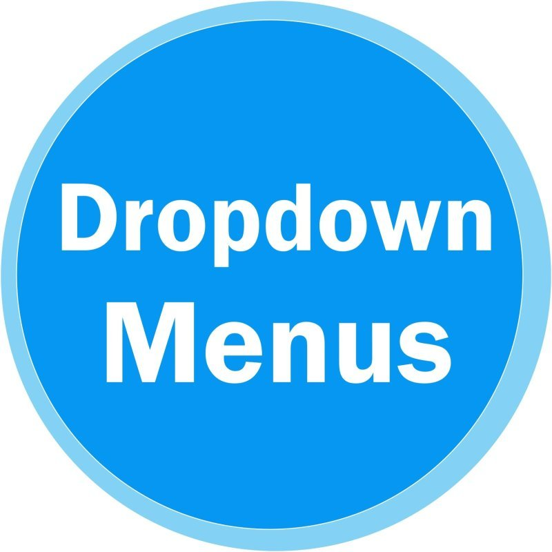 Website Dropdown Menus