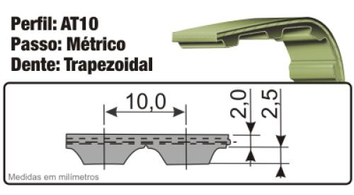 Correia Sincronizada em Poliuretano AT10