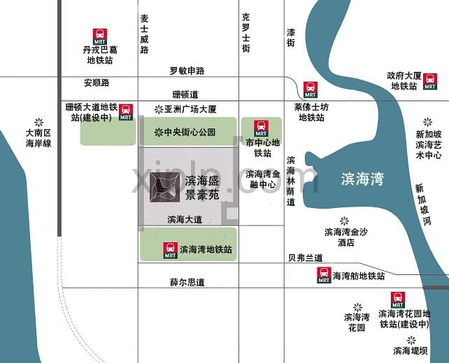 Marina One Residences CN Map