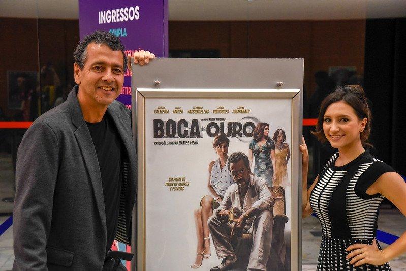 Marcos Palmeira e Lorena Comparato