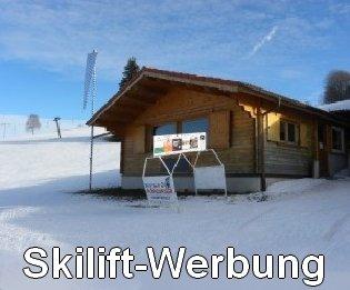 Skilift-Werbung