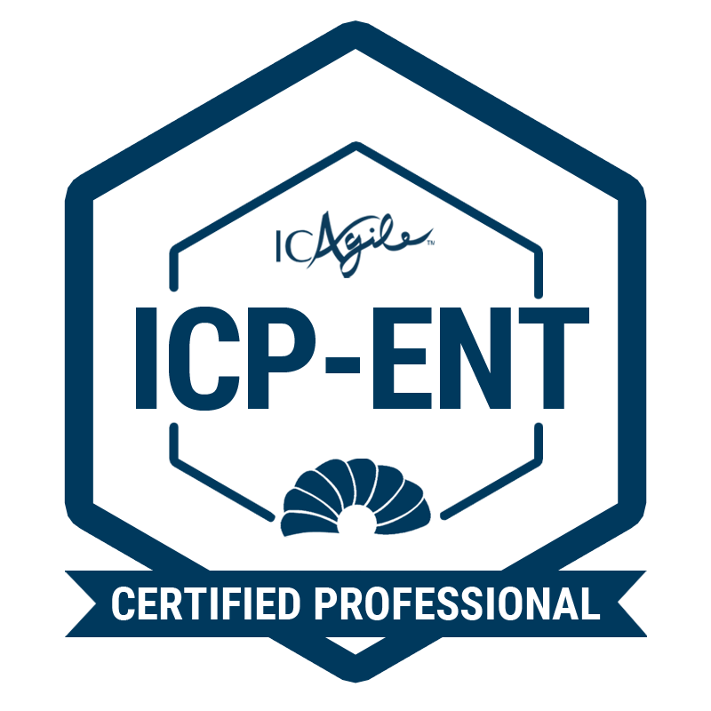 ICAgile Certified Professional - Agility in the Enterprise  (ICP-ENT)