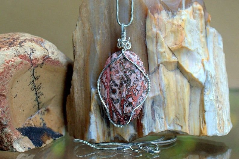 Natural Jasper stone necklace