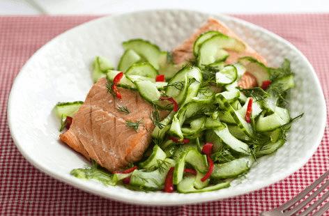 Cucumber, chilli and dill salad recipe
