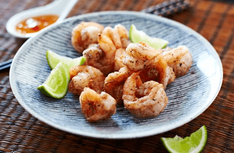 Salt and pepper prawns  recipe