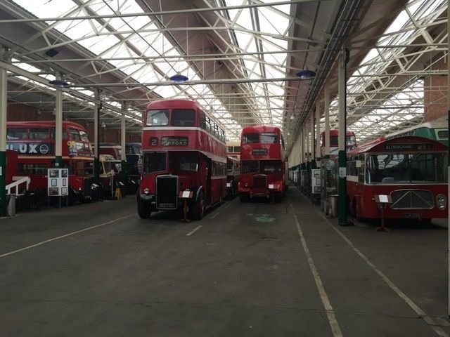The Museum owned bus collection.