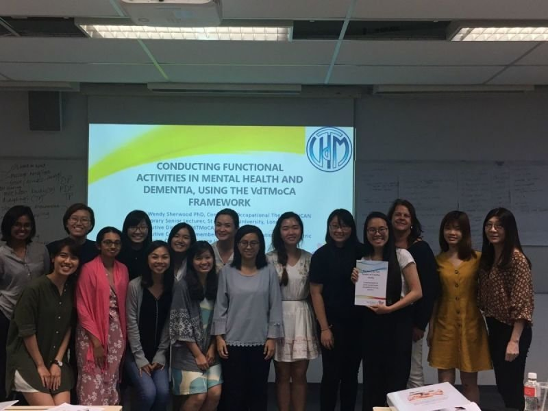 OTs and support workers learning how the VdTMoCA can inform use of activity, Singapore