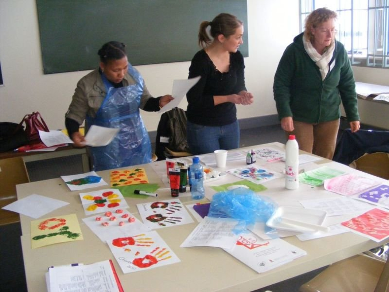 Grading activity for levels of creative ability workshop, Johannesburg, 2011