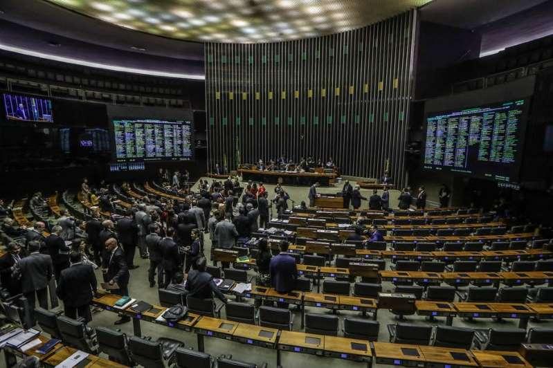 O plenário da Câmara dos Deputados,em Brasília