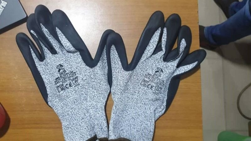Black Nitrile Ultra Rubber Safety Hand Gloves (Anti-Cut)