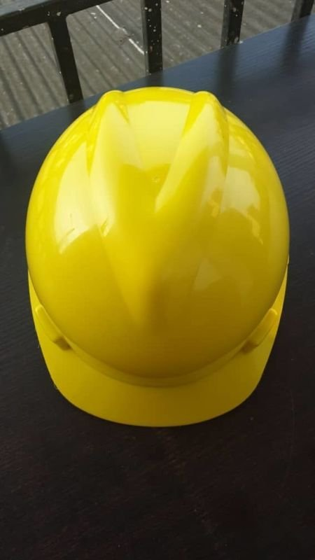 Yellow V-Guard Safety Helmet (MSA Certified)
