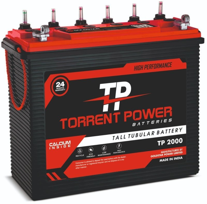 Torrent Power Tall Tubular Batteries 150 Ah (24 Months Warranty) Made in India.