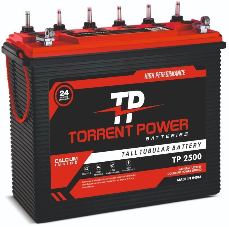Torrent Power Tall Tubular Batteries 220 Ah (24 Months Warranty) Made in India.