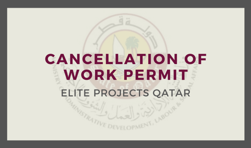 Cancellation of Work Permit